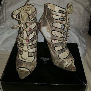 C Label Lace Up Heels
